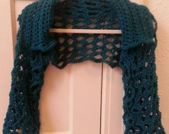 Crochet Pattern Teeshirt Shrug Sweater