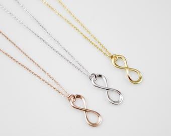 Dainty Infinity Necklace . Tiny Charm Necklace Bridesmaid Gift Bridesmaid Necklace Birthday Gift