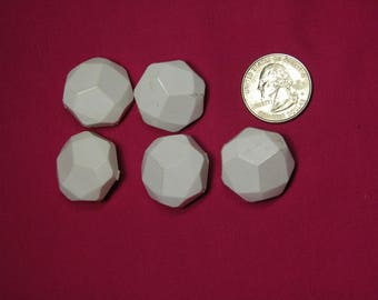 Antique Large White  buttons