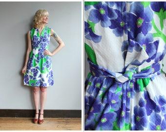 1960s Dress // Malia Hydrangea Floral Dress // vintage 60s dress