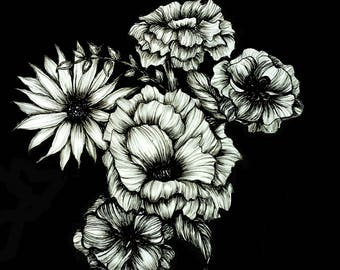 Black Floral Ink III download