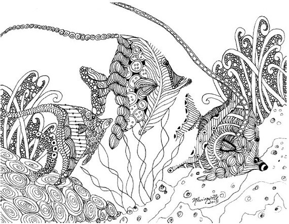 Adult Coloring Pages Printable DIY Zendoodle Zentangle 8.5 x