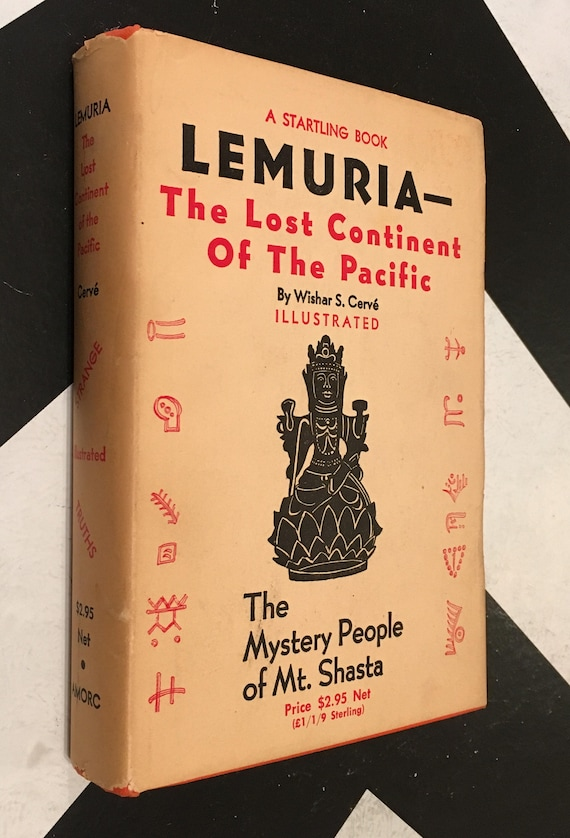 Lemuria - The Lost Continent of the Pacific by Wishar S. Cervé with a Special Chapter by James D. Ward; Illustrated (Hardcover, 1966)