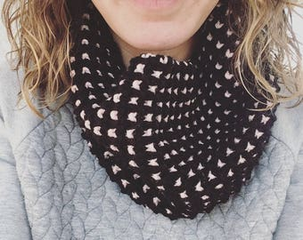 Optical Illusion Cowl Neck Scarf