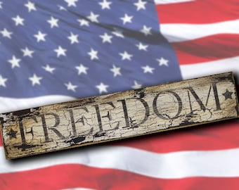 Freedom - Word Stencil - Select Size - STCL1240 by StudioR12