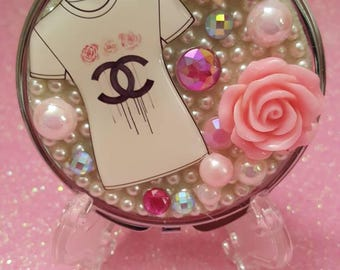 My Fav T-shirt Compact Purse Mirror