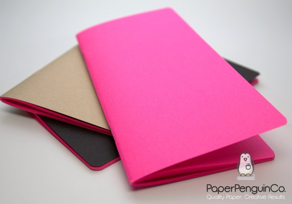 Midori Insert Bright Pink Travelers Notebook Black Brown Pink Regular Wide B6 Personal A6 Pocket Field Notes Passport/Grid Dots Lined Blank