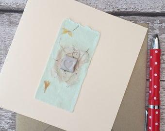 Hand made greeting card. Gift idea ceramic, bespoke, wedding, love card, one off, greetings card
