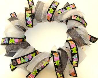 Happy New Year Dog Ribbon Collar