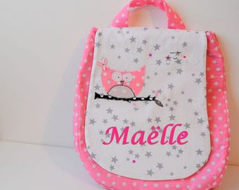 Pink OWL nursery satchel