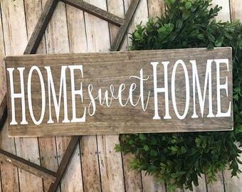 Home Sweet Home | Welcome Home | Home Sweet Home Sign | Family Established Sign | Farmhouse Decor