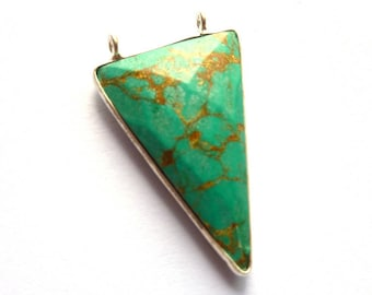 Silver Pendant 925 sterling silver and turquoise 27 x 18 x 5 mm AR065