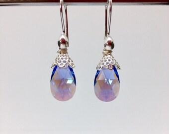 Swarovski Crystal Earrings - Swarovski Jewelry - Easter Earrings - Mothers Day Jewelry - Bridal Jewelry - Pastel Earrings - Doilies