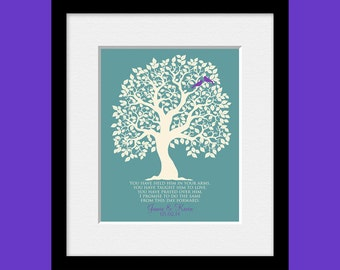 Grooms Mother's Gift, Thank You Gift for Grooms Parents, Wedding Gift for Parents, Love Bird Tree, Customized Parents Wedding Gift Print