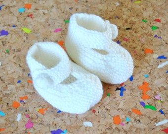 The Booties // White Baby Slippers