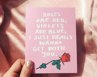 Roses Are Red Heart Greeting Card