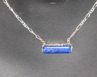 Lapis Minimalist Bar Necklace