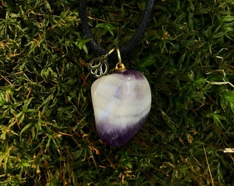 Tumbled Amethyst Crystal Necklace