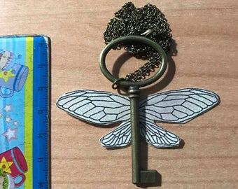 Key Necklace Winged harry potter