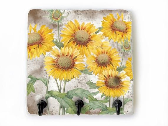 Sunflower Decor Key Hook Decorative Hooks for Keys Wall Key