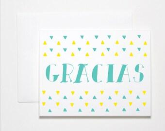 Thank You Card- Gracias