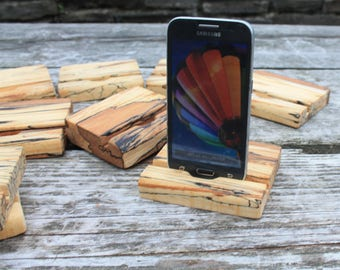 Smartphone stand, iPhone stand, Wooden iPhone stand, Handmade iPhone stand,Rustic iPhone stand, Gift Ideas, Fathersday gift, Docking station