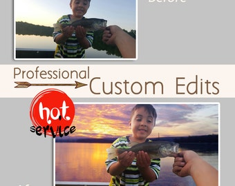 Photo editor, Online photo editor, Professional photo retouch, One or more images, Custom photo edits, Photo collage maker, Photoshop