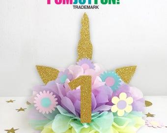 Unicorn Cake Topper, Unicorn Cake Kit, Unicorn Birthday Decoration, Unicorn Centerpiece, Unicorn Birthday Party First Birthday Decoration