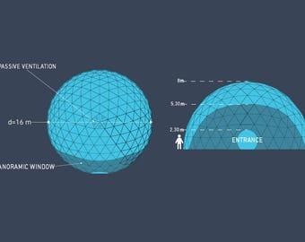 Geodome 16m, event dome