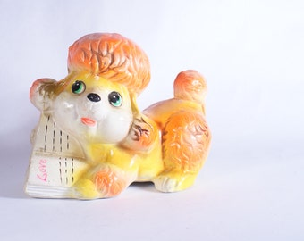 Bank Vintage Rossini Japan Coin Late 50 Import Figural Orange Yellow