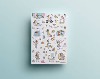 The Seasons - Planner stickers sheet