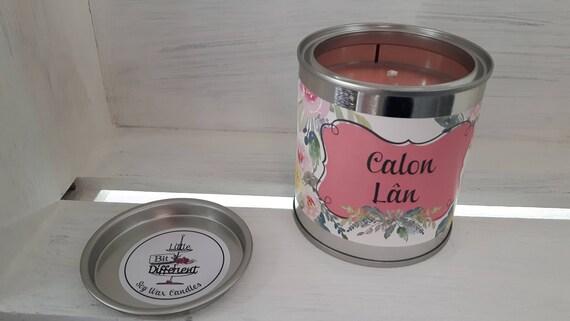 Calon Lan candle.  Bergamot, geranium and musk candle. Vegan candle. Welsh candle.  Soy wax candle.  Mothers Day.  Handmade in Wales, UK