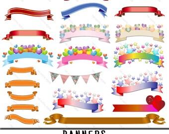 Banner Clipart, Banner Clip Art, Clipart Banner, Clip Art Banner, Banner PNG, PNG Banner, Banners Clipart, Banners Clip Art, Digital Banners