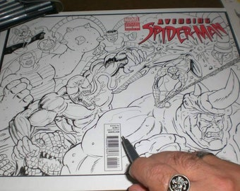 Comic book sketch covers
