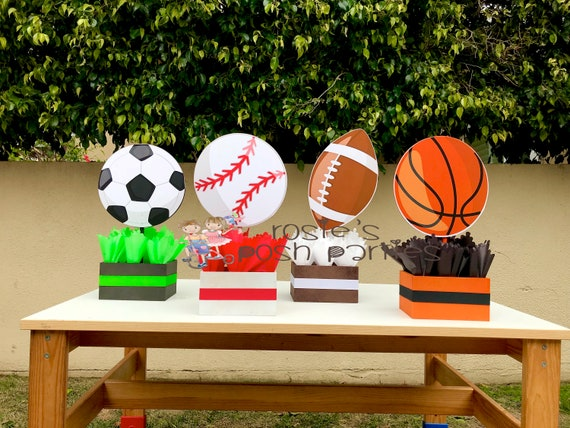 Sports theme centerpiece sports party sports birthday soccer junglespirit Images
