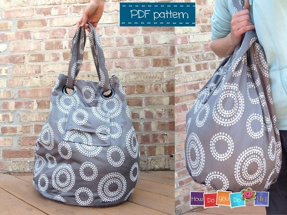 Bag Sewing Pattern , Tote Bag Pattern , Bag Tutorial , Easy Bag PDF ...