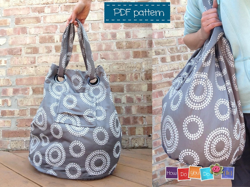 Bag Sewing Pattern , Tote Bag Pattern , Bag Tutorial , Easy Bag PDF ...