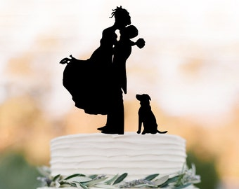 Dog Cake Toppers For Wedding Cakes On Wedding Cakes With Silhouette Cake Topper Pet
