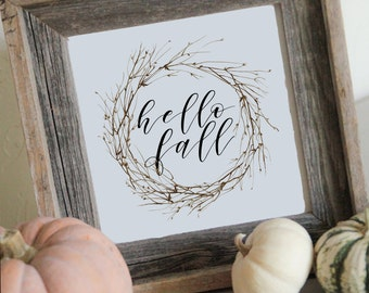 hello fall, hello fall printable, fall printable, fall sign, hello fall sign, fall decor, printable, thanksgiving decor, fall decor
