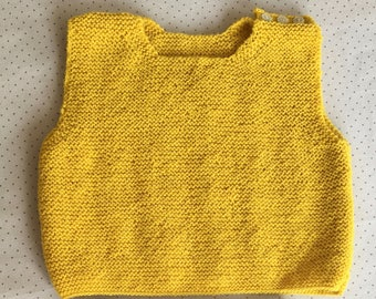 Pullover sleeveless yellow baby 6 months