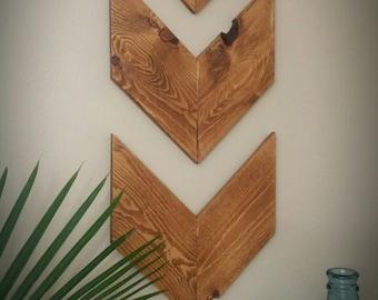THE CHEVRON Wood Wall Decor Set