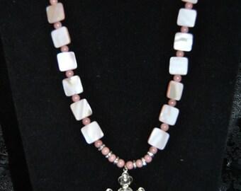 4 Roses Crucifix Necklace set