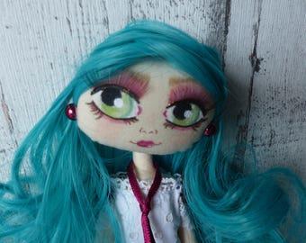 Elisa poupée de chiffon (rag doll, handmade doll, ooak doll,art doll)