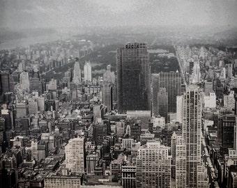 Vintage Photo: 1951 New York Skyline Overlooking Central Park