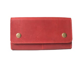 Best womens wallet, billfold wallet, credit card wallet, womens wallets, best friend birthday, leather wallets, leather wallet women, red