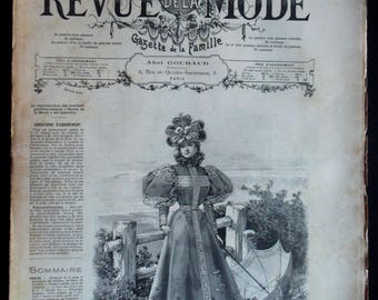 Review the 1895 fashion magazine prints fashion engravings antique fashion