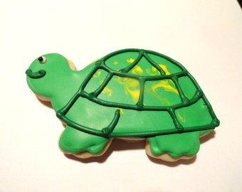 Green Turtle Cookies party favors (1 dozen)