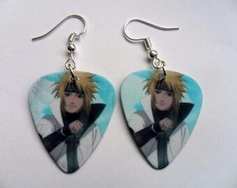 Handmade  NARUTO Anime Guitar Pick // Plectrum Earrings