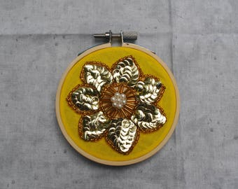 "Flower Decal   Embroidery   3"" Hoop"