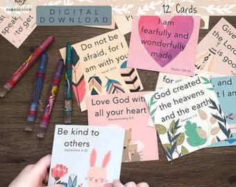Kid's Scripture Cards, Digital Download